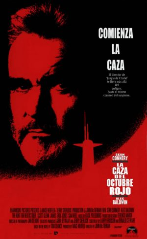 "Poster for the movie ""La caza del Octubre Rojo"""