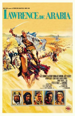 "Poster for the movie ""Lawrence de Arabia"""