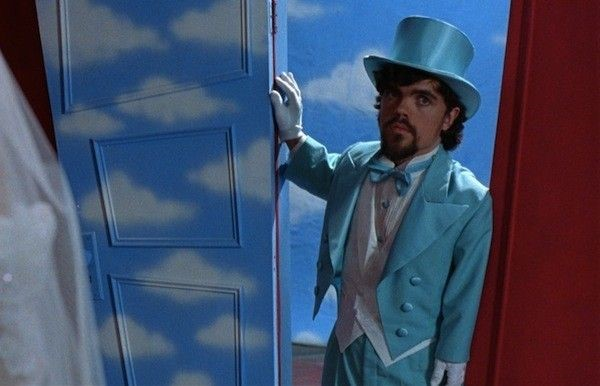 Peter Dinklage appearing on a fictional set in Living in Oblivion