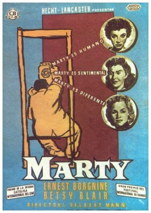 "Poster for the movie ""Marty"""